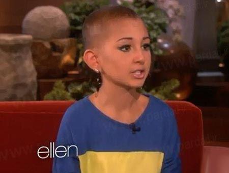 شهرت دختر 13 ساله بخاطر آرایش صورتش (عکس)