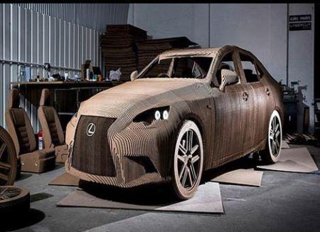 حقیقت لکسوس کاغذی با قابلیت رانندگی! (عکس)