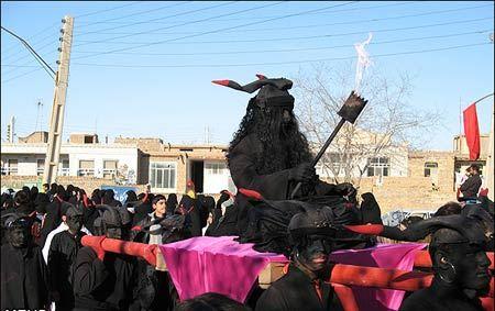 عکس های عجیب حضور یک جن و سپاه اجنه در تعزیه