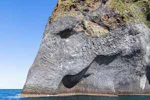 صخره ای شگفت انگیز به شکل فیل (عکس)