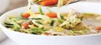طرز تهیه سوپ مرغ و کدو (رژیمی )