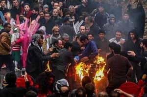 آتش گرفتن هولناک چند نفر در تعزیه اصفهان (عکس)