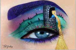 پلک های جادویی این دختر با زیباترین مدل سایه چشم