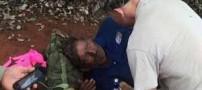 مردی که با خوردن مورچه ها از مرگ نجات یافت (عکس)