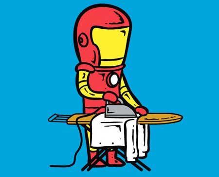 کاریکاتورهای طنز شغل های پاره وقت ابر قهرمانان