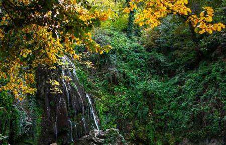 عکس های رویایی آبشار کبودوال در استان گلستان