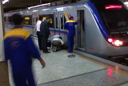 خودکشی وحشتناک پسری در مترو تهران + عکس