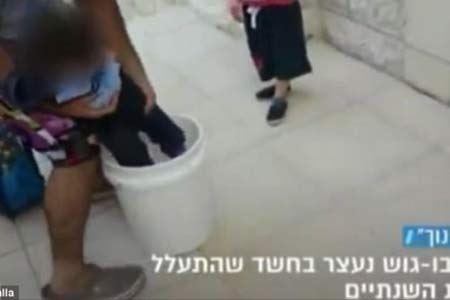 تنبیه وحشیانه دختری توسط پدرش (عکس)