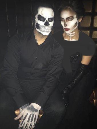 چهره ترسناک جنیفر لوپز در جشن هالووین (عکس)