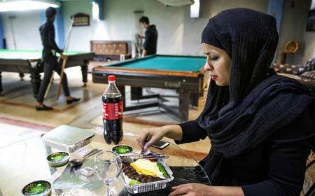 عکس های دیدنی اکرم محمدی نابغه بیلیارد ایران