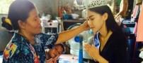 رفتار جنجالی ملکه زیبایی با مادر فقیرش (عکس)