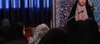 سخنرانی جنجالی مرجانه گلچین بالای منبر ! (عکس)