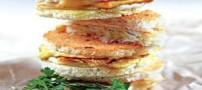 طرز تهیه اسنک چند طبقه ماهی با تخم مرغ