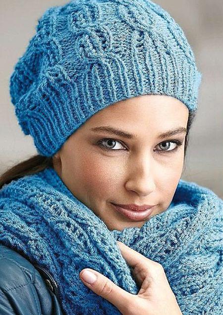 شیک ترین و جدیدترین مدلهای شال و کلاه بافتنی (عکس)