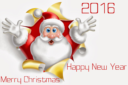 کارت پستال و عکس های زیبا برای تبریک کریسمس 2016