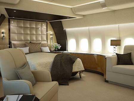 عکس های دیدنی از داخل یک هواپیمای بوئینگ 8-747 لوکس