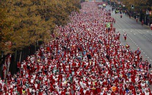 تصاویری از جشن کریسمس در نقاط مختلف جهان