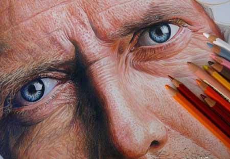نقاشی های خارق العاده و خیره کننده با مداد رنگی
