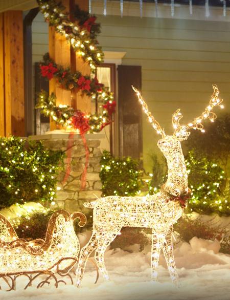 مدل هایی زیبا از نورپردازی درب خانه ویژه کریسمس
