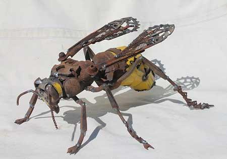 ساخت حیوانات زیبا و جالب با آهن آلات دستدوم (عکس)