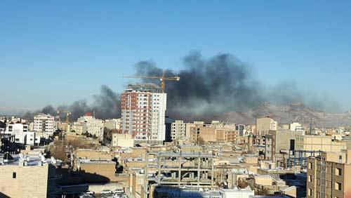5 کیلومتر از شهر ارومیه در آتش سوزی نابود شد (عکس)