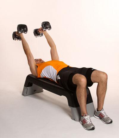 تمرینات تصویری تقویت عضلات سینه و پهن کردن آن