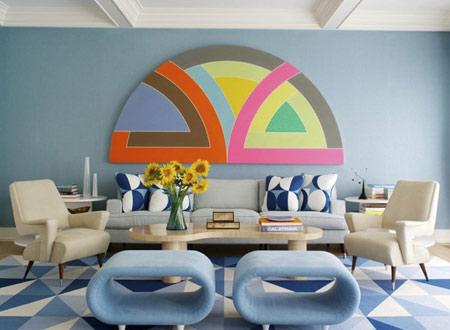 رنگ های دکوراسیون منزل در سال 2016 صورتی و آبی است