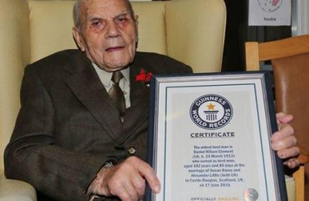 ثبت رکوردی جالب توسط پیرترین آقا داماد دنیا (عکس)