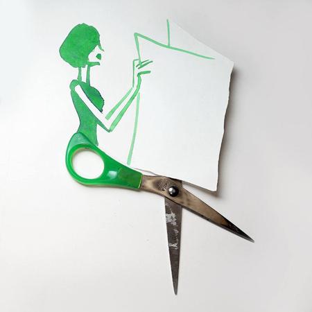 سری جدید نقاشی های ترکیبی خلاقانه و طنز با اشیا