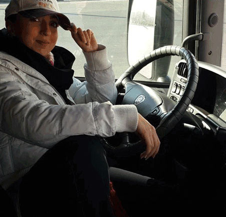 دختر زیبا و جذاب ایرانی راننده ی تریلی اسکانیا (عکس)