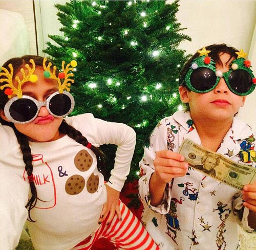 جنیفر لوپز و فرزندانش در تعطیلات قبل از کریسمس (عکس)