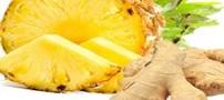 فواید نوشیدنی آناناس و زنجبیل برای سلولیت