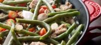 آموزش درست کردن سالاد گرم لوبیا سبز