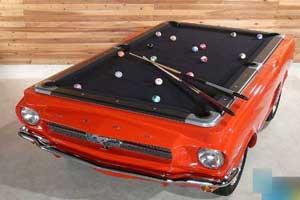 تبدیل ماشین به یک میز بیلیارد (عکس)