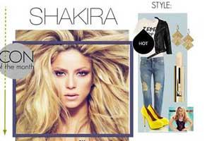 مدلهای ست کردن شلوار جین به سبک شکیرا