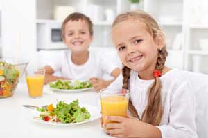 غذاهای ساده و خوش آب و رنگ برای بچه ها