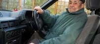 پیرمرد 103 ساله که قدیمی ترین راننده دنیاست (عکس)