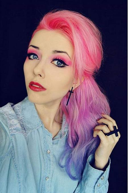 مدلهای مو فانتزی دخترانه در رنگ های مختلف