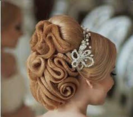 زیباترین مدل شینیون های عروس با تور 2016