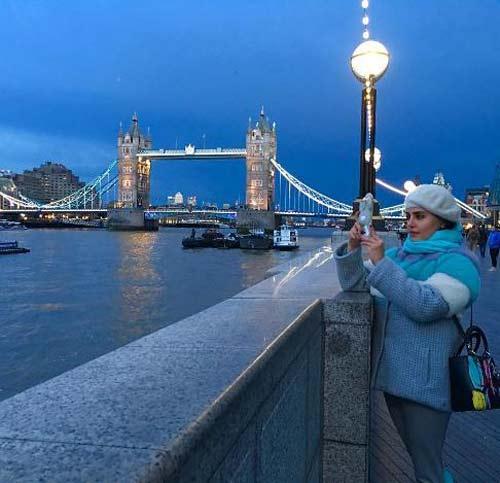 عکسهای الناز شاکردوست در لندن با تیپ زیبا و خاص
