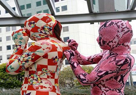 مُد عجیب ژاپنی ها برای کاهش فشار عصبی (عکس)