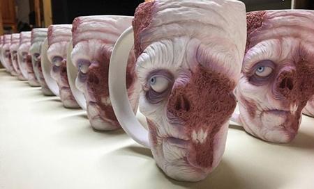 عکس لیوان های جالب به شکل زامبی ها
