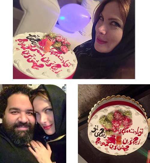 جشن تولد همسر آلمانی رضا صادقی (عکس)