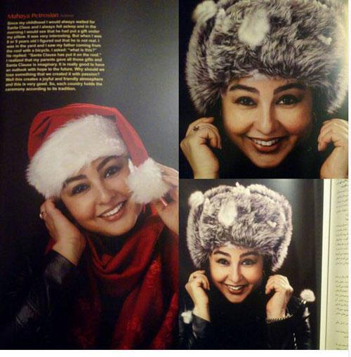 عکس ماهایا پطروسیان روی یک مجله مد و زیبایی