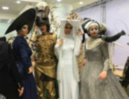 فشن شو دختران دانشگاه الزهرا تهران با لباس های عجیب