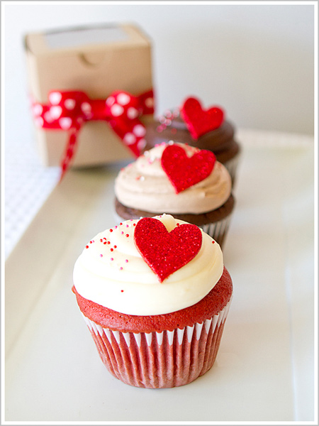 عکس هایی از تزیین کاپ کیک برای روز ولنتاین