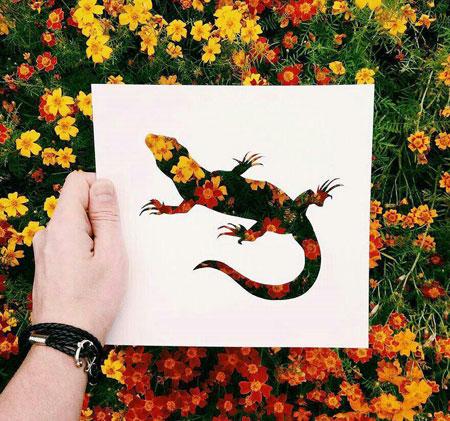 نقاشیهای شگفت انگیز با طبیعت برگرفته از هنرهای تجسمی