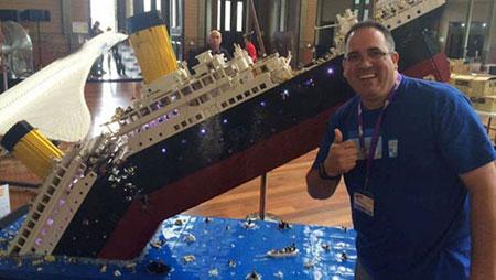 کشتی تایتانیک با هزاران لگو بازسازی شد (عکس)