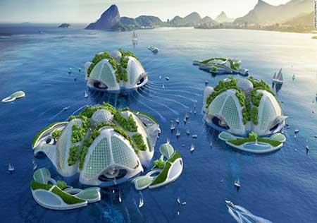 پروژه ساخت آسمان خراش وسط اقیانوس (عکس)