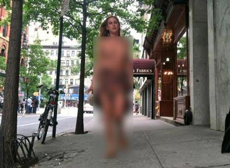 برهنه شدن دختر بازیگر سرشناس در خیابان بخاطر اینستاگرام